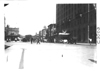 Street view with Pontchartrain Hotel on right at the start of 1909 Glidden Tour, Detroit, Mich.
