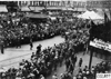 Crowd parted for cars at start of 1909 Glidden Tour, Detroit, Mich.