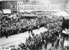 Crowd parted for Moline car at start of 1909 Glidden Tour, Detroit, Mich.