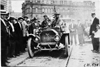 George Wilcox in Regal car and C.J. Glidden at start of the 1909 Glidden Tour, Detroit, Mich.
