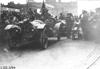 John Williams in Pierce-Arrow car at start of the 1909 Glidden Tour, Detroit, Mich.