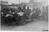 John S. Williams in Pierce-Arrow car at start of the 1909 Glidden Tour, Detroit, Mich.