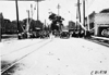Crowd gathers to watch cars in Jackson, Mich. in 1909 Glidden Tour