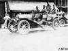 Jean Bemb in Chalmers-Detroit car arriving in Kalamazoo, Mich., 1909 Glidden Tour