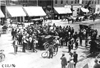 Large crowd surrounds Chalmers car in Rochester, Minn. at the 1909 Glidden Tour
