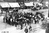 Crowd surround Chalmers car in Rochester, Minn., at the 1909 Glidden Tour