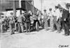 Mason car taking in gasoline at Council Bluffs, Iowa at 1909 Glidden Tour