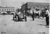 Car #111 on cobblestone street at 1909 Glidden Tour