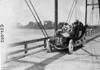 Thomas car #76 on Loup River bridge, at the 1909 Glidden Tour
