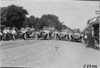 Pierce-Arrow cars parked across street in Kearney, Neb., at 1909 Glidden Tour