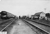 Glidden tourists checking out at railroad station in Kearney, Neb., at 1909 Glidden Tour