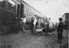 Glidden tourists boarding Pullman car in Kearney, Neb., at 1909 Glidden Tour