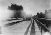 Thomas car #76 crossing bridge over the North Platte River, at the 1909 Glidden Tour