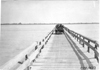 Frank E. Wing in Marmon car crossing the North Platte River Bridge in Neb., at the 1909 Glidden Tour