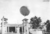 Hot air balloon in the air above Lakeside Park, Denver, Colo., at 1909 Glidden Tour