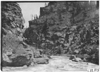 Creek running through Clear Creek Canyon, Colo., at 1909 Glidden Tour