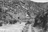 Creek near railroad tracks in Clear Creek Canyon, Colo., at 1909 Glidden Tour