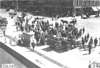 Crowd welcomes Glidden tourists in Colorado Springs, Colo., at 1909 Glidden Tour