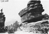 Chalmers car #76 at Balanced Rock in the Garden of the Gods, Colo., at the 1909 Glidden Tour