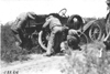 Moline car has tire trouble near Bunker Hill, Kan., at 1909 Glidden Tour