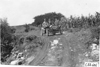 Brush car on rural road near Junction City, Kan., at 1909 Glidden Tour