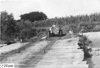 Jewell car crossing wooden bridge near Junction City, Kan., at 1909 Glidden Tour