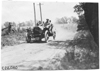 Gregory in Moline car on rural road near Junction City, Kan., at 1909 Glidden Tour