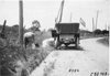 Press car stopped on side of road near Manhattan, Kan., at 1909 Glidden Tour
