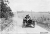 John Wicks in Moline car on rural road near Manhattan, Kan., at 1909 Glidden Tour