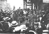 Large crowd surrounds Glidden tourist vehicle at Kansas City, Mo., at 1909 Glidden Tour