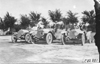 Jean Bemb, John Williams and Walter Winchester posed in their vehicles at Kansas City, Mo., at 1909 Glidden Tour