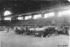 Cars parked inside the convention hall in Kansas City, Mo., at 1909 Glidden Tour