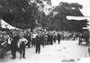 Large crowd watches for Glidden tourists in Madison, Wis., at 1909 Glidden Tour