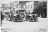 Glidden participants on downtown street, at the 1909 Glidden Tour