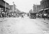 Glidden participants in town, at the 1909 Glidden Tour