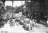 Participants getting gasoline, at the 1909 Glidden Tour