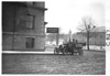 E.M.F. car in front of automobile club, on pathfinder tour for 1909 Glidden Tour