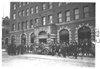 E.M.F. car in front of Stoddard building, on pathfinder tour for 1909 Glidden Tour