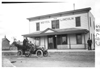 E.M.F. car in front of Hotel Lincoln, on pathfinder tour for 1909 Glidden Tour