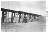 E.M.F. car approaching railway trestle from below, on pathfinder tour for 1909 Glidden Tour