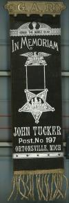 John Tucker Grand Army of the Republic Civil War Memorial Ribbon