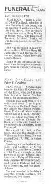 Coulter, Edith E.