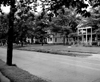 View of old homes on N. Main Street in the 1950s