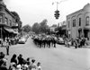 Soldiers marching south on Main Street at intersection of Penniman Avenue, Memorial Day Parade, 1950