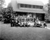 VFW Veterans in front of Mariette Hough Memorial Building