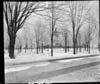 Winter Scene of Plymouth High School and M.E. Church prior to 1916 Fire