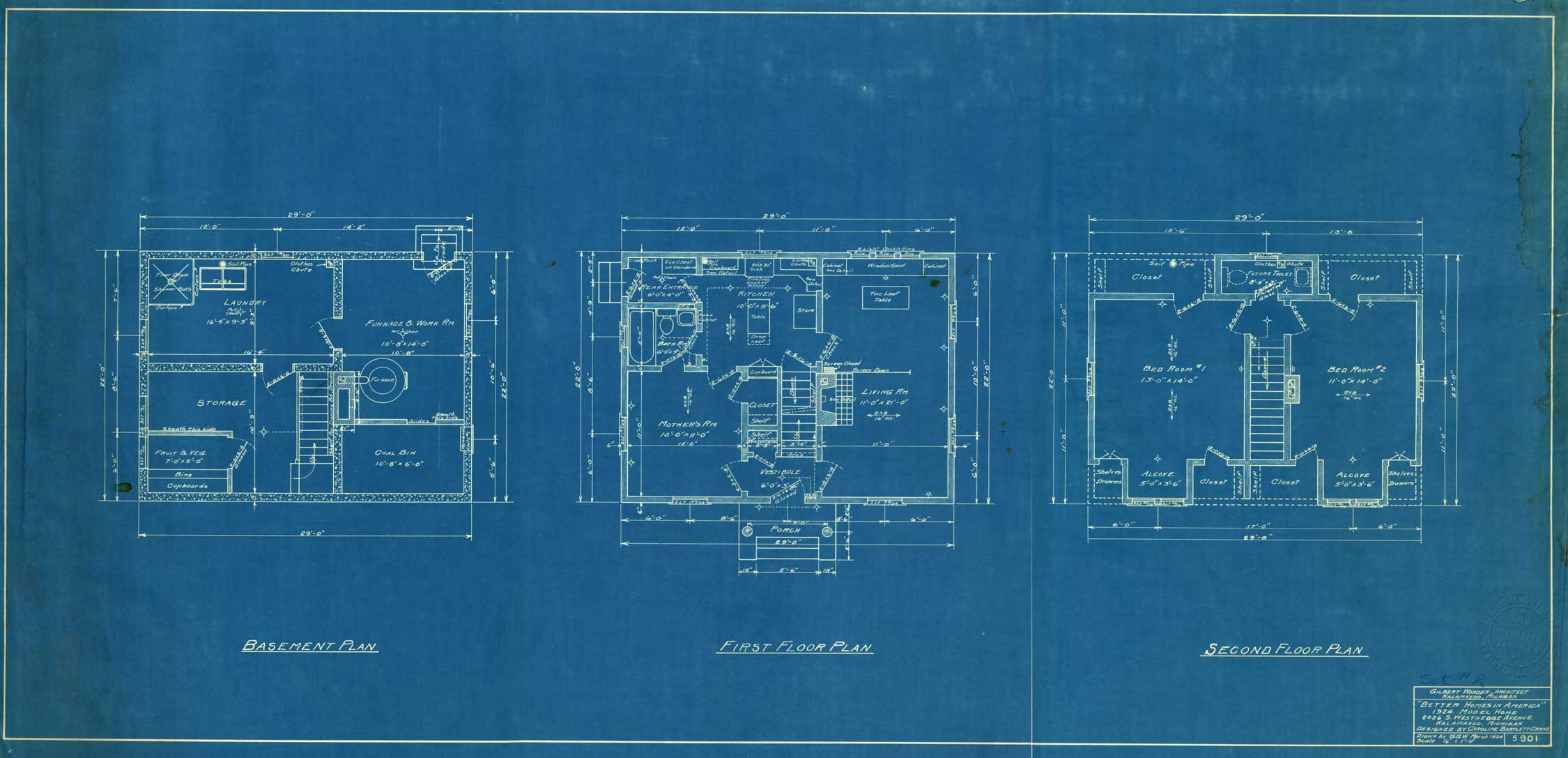 The making of modern michigan digitizing michigans hidden past floor plans blueprint architectural drawing malvernweather Gallery
