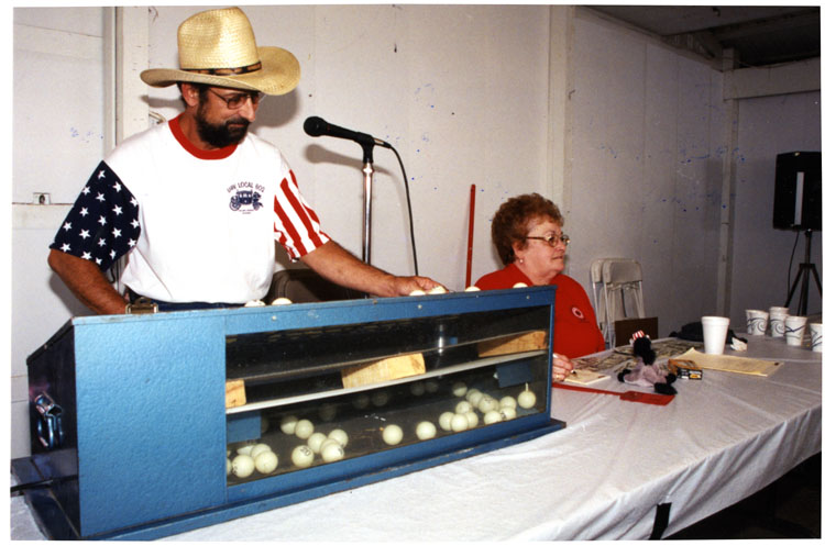 image of Mike Bennett and Dorothy Stevens call Bingo.
