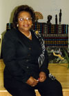 Roberta Cannon at the Local 602 Union Hall during the annual Taste of Black History program (year unknown).