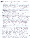 Handwritten notes from the interview